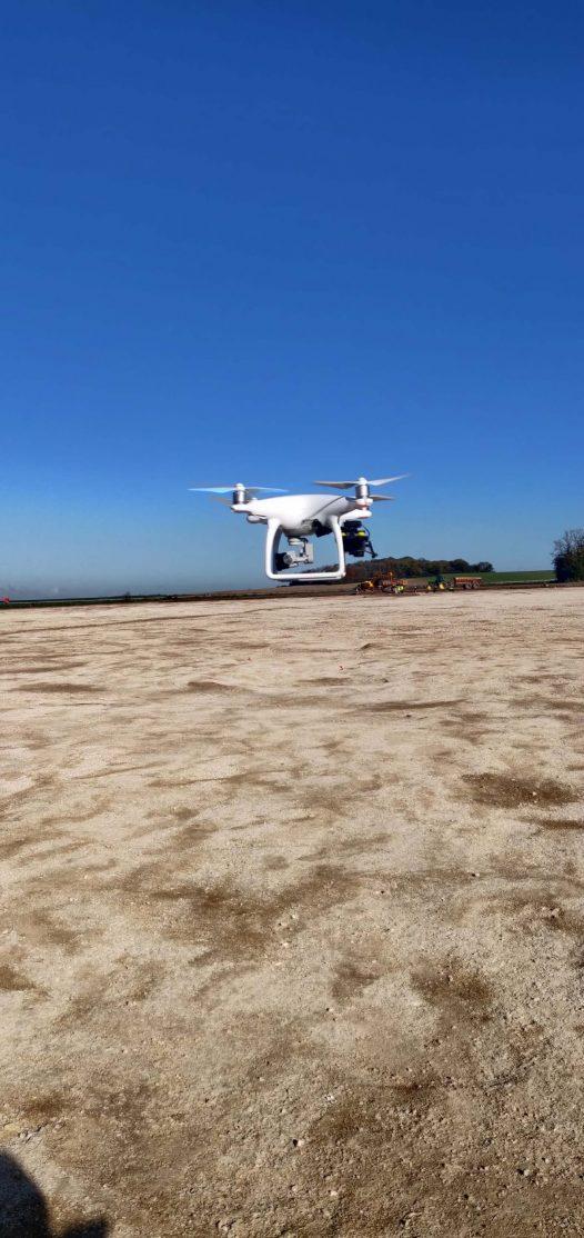 Photo drone en vole à la plage