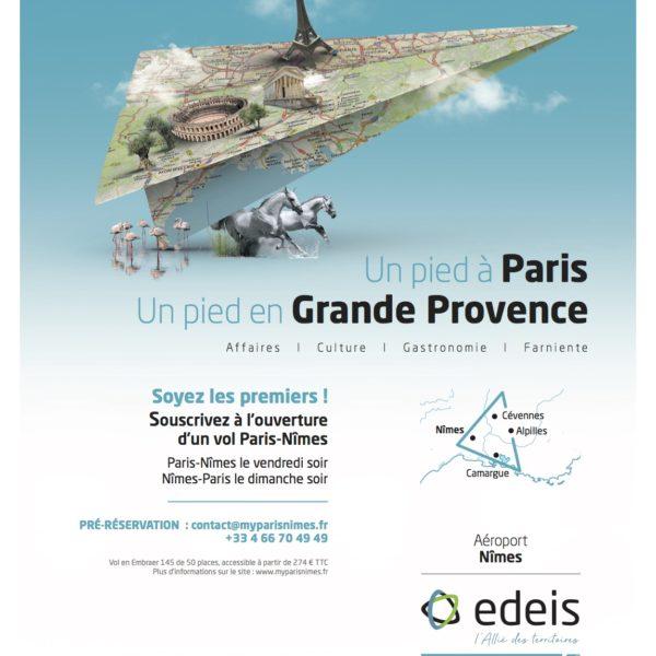 Liaison Nîmes/Paris : une première dans le monde du transport aérien !