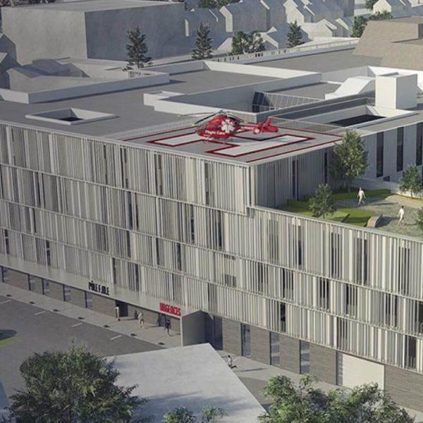 Modernisation du Centre Hospitalier d'Abbeville : un grand projet confié à Edeis, aux côtés d'ART and BUILD et Projex