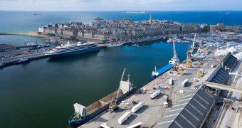 Photo aérienne port