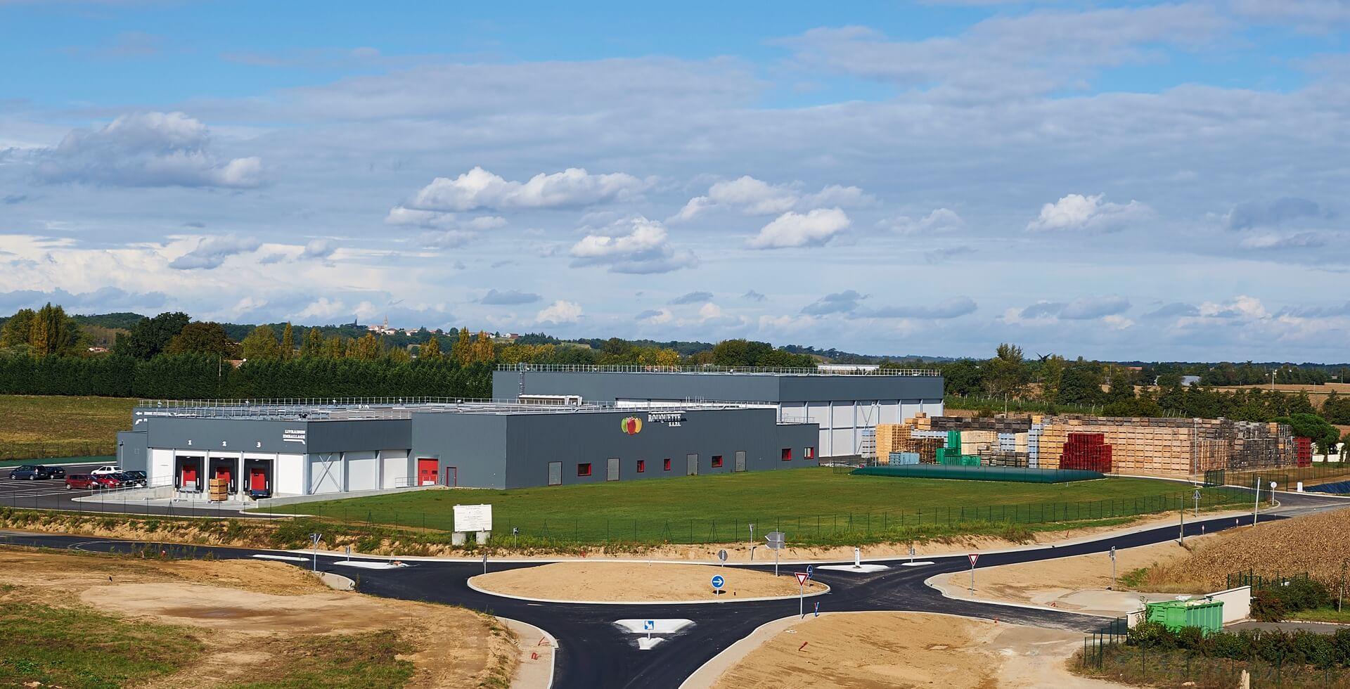 Construction d'une station de pré calibrage, conditionnement et stockage de pommes pour la SAPA