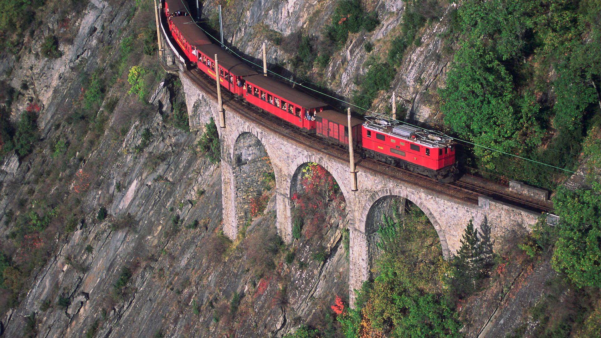 Photo aérienne train